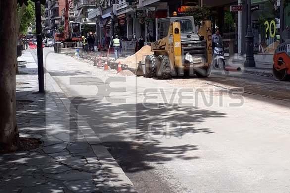 Οι εργασίες στο κέντρο της Πάτρας, προκάλεσαν κυκλοφοριακή αναστάτωση!