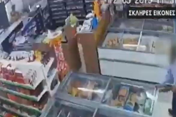 Χανιά: Σοκαριστικό βίντεο από τη δολοφονία σε μίνι μάρκετ
