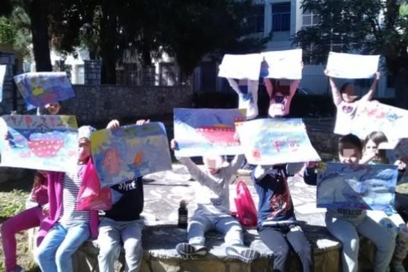 Οι μικροί καλλιτέχνες από το Εικαστικό Εργαστήρι των Βραχνεΐκων (φωτο)