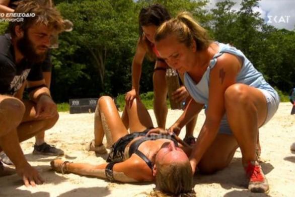 Survivor: Η Κατερίνα Δαλάκα κατέρρευσε από την εξάντληση (video)