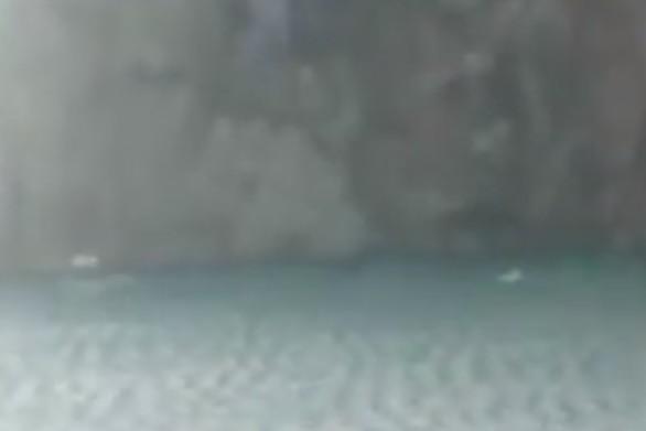 Δυτ. Ελλάδα - Βίντεο από την προσπάθεια του 31χρονου να σώσει τη βάρκα του