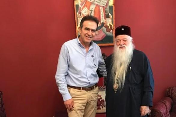 Επίσκεψη του Γιώργου Κουτρουμάνη στον Αμβρόσιο και σε επιχειρήσεις του Αιγίου
