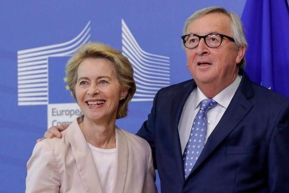 Συνάντηση του Ζ. Κ. Γιούνκερ με τη νέα επικεφαλής της Κομισιόν Ο. φον ντερ Λάιεν