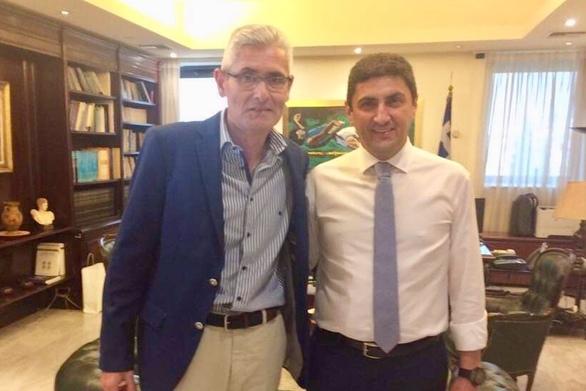 Ο Άγγελος Τσιγκρής σε σύσκεψη με τον Υφυπουργό Αθλητισμού για τους Μεσογειακούς Αγώνες της Πάτρας