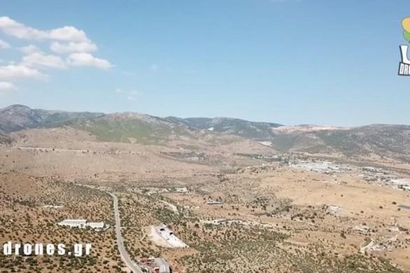 Εναέρια πλάνα από το επίκεντρο του σεισμού που ταρακούνησε την Αττική (video)