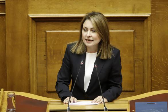 Την πρώτη της ομιλία πραγματοποιήσε η Χριστίνα Αλεξοπούλου στη Βουλή