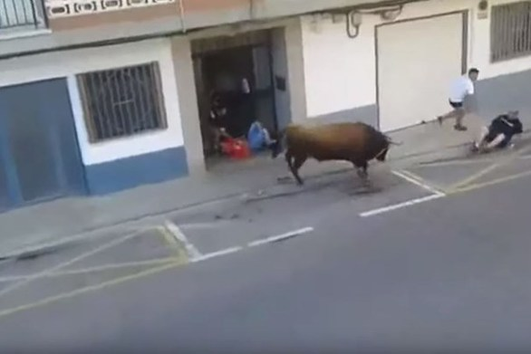 Άνδρας έχασε τη ζωή του από επίθεση ταύρου (video)