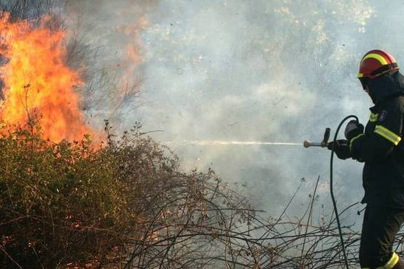 Εκκενώθηκαν δύο χωριά στην Κέρκυρα από την πυρκαγιά