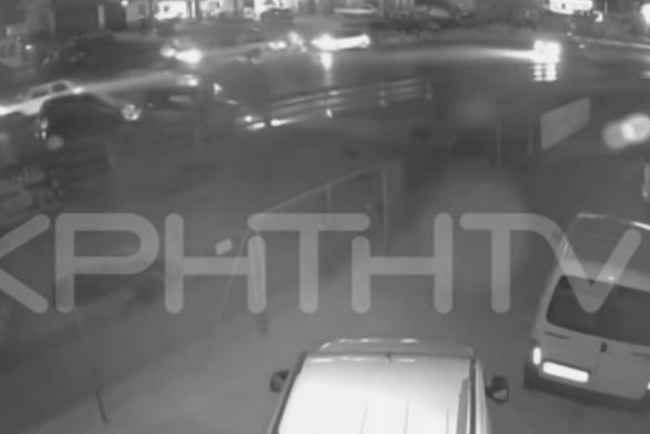 Έτσι έγινε το φρικτό τροχαίο στο Ηράκλειο - Δείτε βίντεο