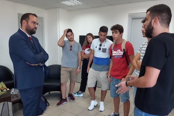 Ο Νεκτάριος Φαρμάκης συναντήθηκε με αντιπροσωπεία φοιτητών του Πανεπιστημίου Πατρών