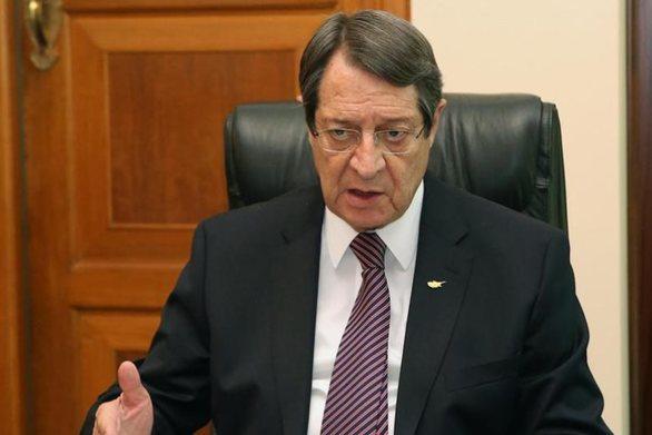 """Αναστασιάδης: """"Θα αντιδράσουμε με κάθε πολιτικό και διπλωματικό μέσο στις προκλήσεις της Τουρκίας"""""""