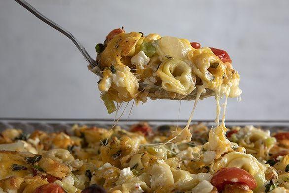 Τορτελίνια με τυρί στον φούρνο