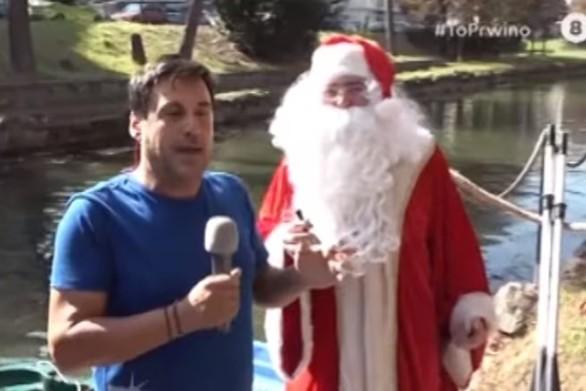 """Άγιος Βασίλης """"κατέστρεψε"""" τη ζωντανή σύνδεση στο Πρωινό (video)"""