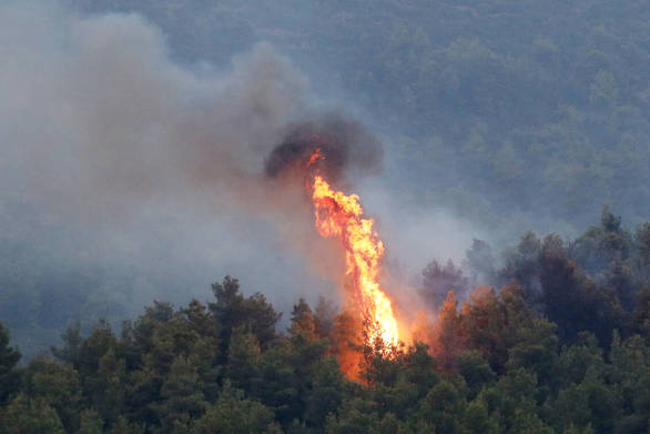 Μεγάλη πυρκαγιά στην Αρκαδία