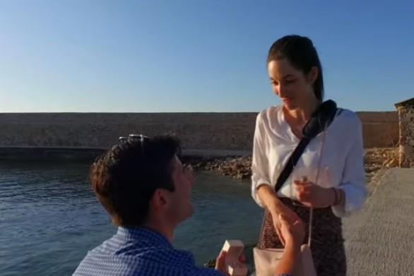 Απίστευτη πρόταση γάμου στα Χανιά με... drone (video)