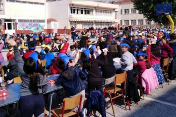 Μαθητές κατέρριψαν ρεκόρ Γκίνες στη Δράμα