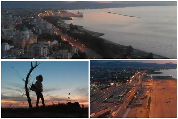 H Παραλιακή ζώνη της Πάτρας στο Λυκόφως (video)