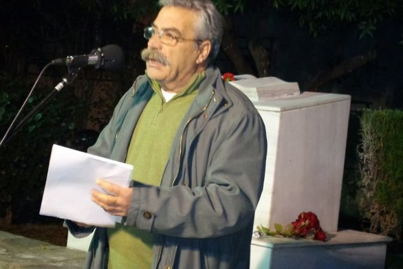 """Μιχάλης Βασιλάκης: """"Η Νοεμβριανή εξέγερση είναι σχολειό ενότητας και αγώνα"""""""