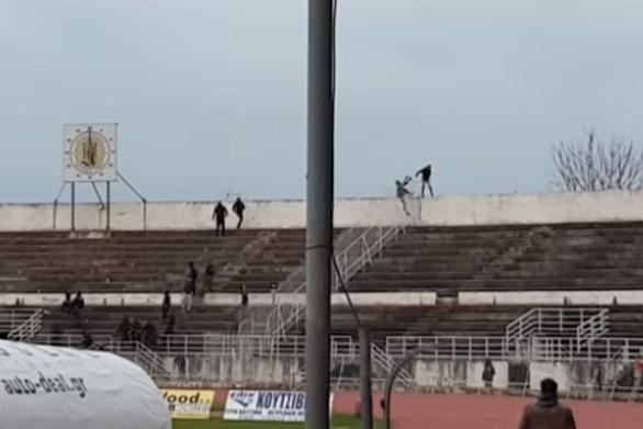 Τρίκαλα - Οπαδοί επιτέθηκαν σε ποδοσφαιριστή του Αιγάλεω (video)