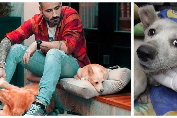 Αχώριστοι ο Γιώργος Μαυρίδης και η γνωστή σκυλίτσα της Ξάνθης, η Τσίχλα (φωτο)