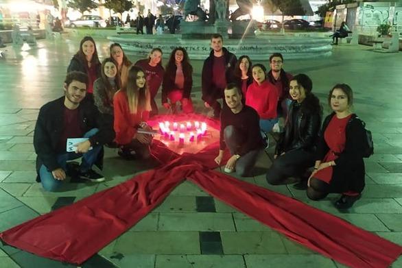 Φοιτητές της Πάτρας έστειλαν το δικό τους μήνυμα κατά του Aids