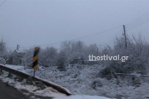Καιρός: Χιόνισε στα ορεινά της Θεσσαλονίκης (pics+video)