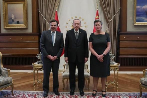 Συνάντηση Μαργαρίτη - Ερντογάν στην Άγκυρα