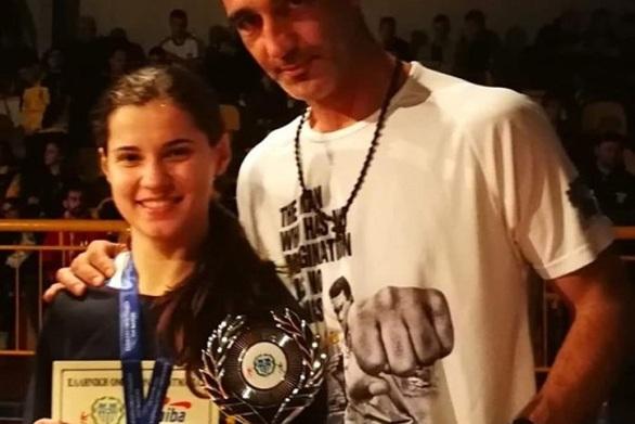Πρωταθλήτρια Ελλάδος η Κωνσταντίνα Μιχαλοπούλου της Πυγμής