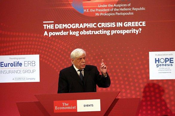 """Προκόπης Παυλόπουλος: """"Το δημογραφικό αποτελεί εθνικό ζήτημα για την Ελλάδα"""""""