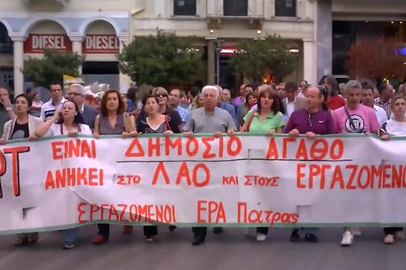 Πάτρα: Όταν ο Γιώργος Φραντζόλας ήταν μπροστάρης στην πορεία συμπαράστασης της ΕΡΤ (video)