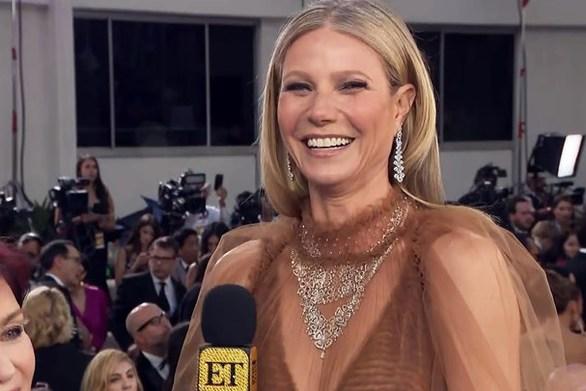 Σχεδόν... γυμνή εμφανίστηκε στις Χρυσές Σφαίρες η Gwyneth Paltrow (video)