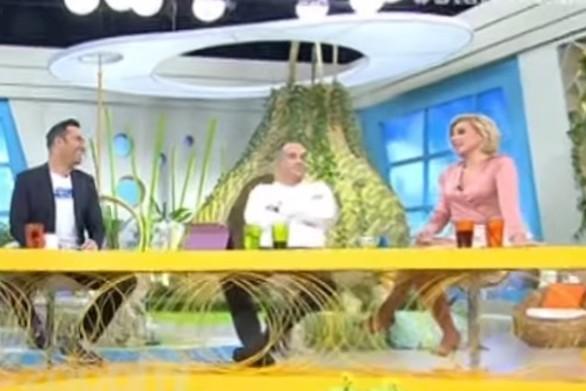"""""""Πάγωσε"""" η Κατερίνα Καραβάτου στον αέρα της εκπομπής (video)"""