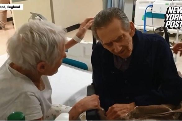 Ερωτευμένοι επί 58 χρόνια έμειναν χώρια για τέσσερις μήνες - Η στιγμή της επανασύνδεσης (video)
