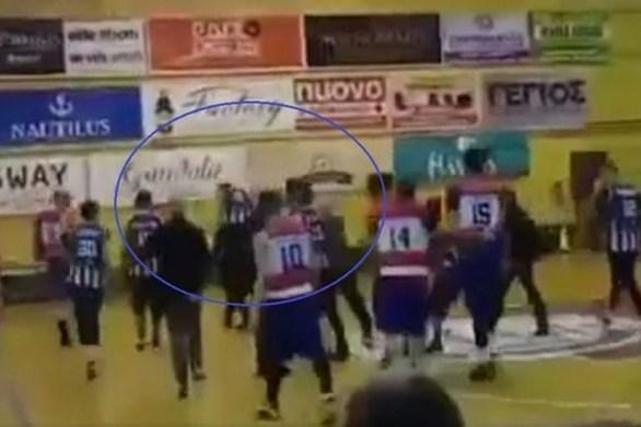 Κέρκυρα - Παίκτες και οπαδοί έδειραν διαιτητή σε αγώνα μπάσκετ (video)