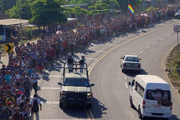 Μεξικό - Εκατοντάδες μετανάστες μπήκαν στη χώρα από τη Γουατεμάλα