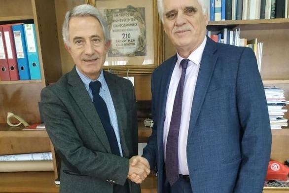 Σπύρος Μυλωνάς - Συνάντηση με τον Πρόεδρο του ΟΣΕ, Κώστα Σπηλιόπουλο