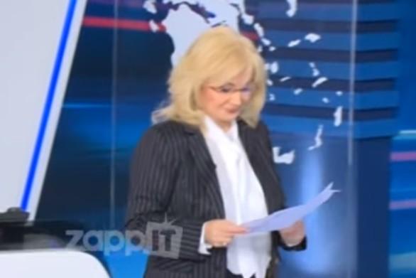 Η Αγγελική Νικολούλη δέχθηκε απειλή στον αέρα (video)