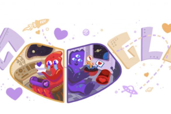 Η Google γιορτάζει με doodle τον Άγιο Βαλεντίνο