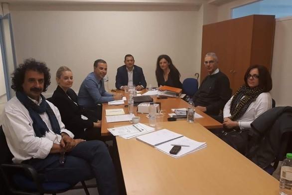 Συνάντηση εργασίας στο γραφείο του Θ. Βασιλόπουλου για τα έργα INCUBA και BALKANET!