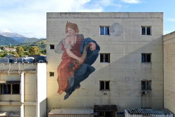 Δείτε πώς δημιουργήθηκε η τοιχογραφία που στολίζει τη Μαιευτική Κλινική του ΠΓΝΠ (video)