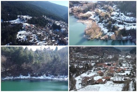 """Ζαρούχλα & λίμνη Τσιβλού - Δύο μοναδικά τοπία στην Αχαΐα, """"ντυμένα"""" στα λευκά (video)"""