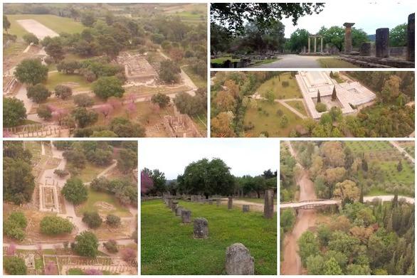 Αρχαία Ολυμπία - Πετώντας πάνω από την ιστορία! (video)