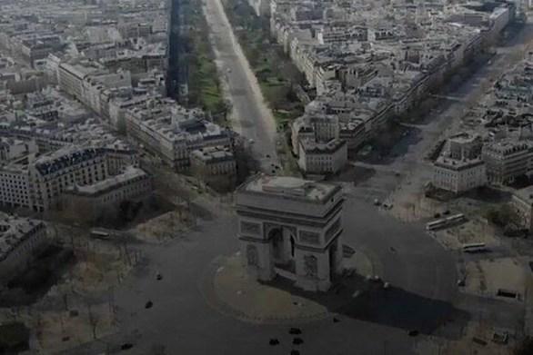 Το άδειο Παρίσι από ψηλά (video)