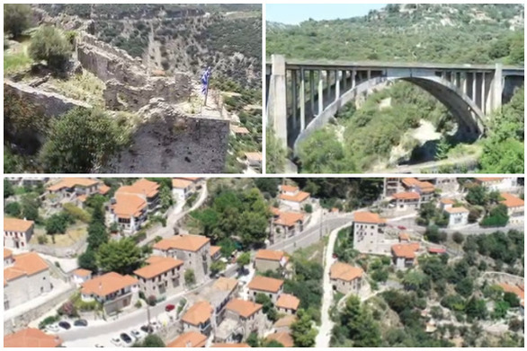 """Καρύταινα, το """"μεσαιωνικό"""" κεφαλοχώρι της Πελοποννήσου (video)"""