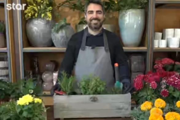 """Σωτήρης Βρεττός: """"Αυτά τα φυτά είναι κατάλληλα για το μπαλκόνι σας"""" (video)"""