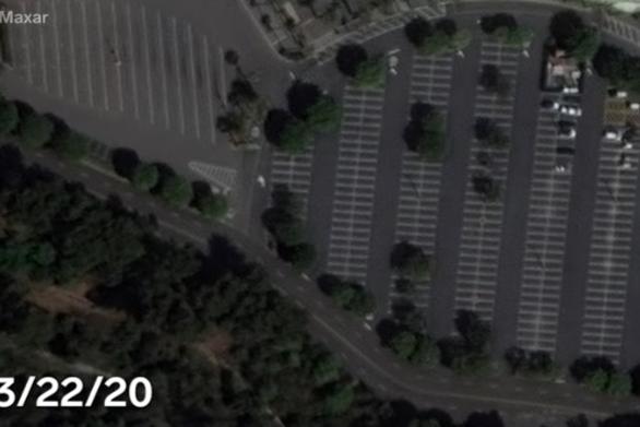 Η κοινωνική αποστασιοποίηση για την πανδημία μέσα από δορυφορικές εικόνες (video)