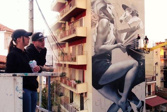 H street artist JDL, μιλάει για το έργο που δημιούργησε στην Πάτρα και τη σημασία του (video)
