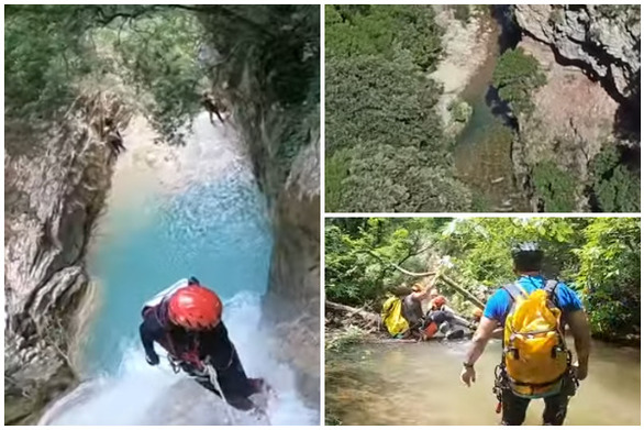Canyoning στη Νέδα, τον περίφημο ποταμό της Πελοποννήσου (video)