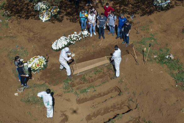 Άλλοι 653 θάνατοι στην Βραζιλία από την Covid-19