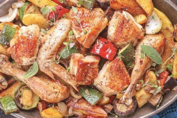 Ριγανάτο κοτόπουλο με φέτα